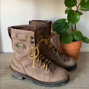 Harley Davidson Tan Combat Boots, size 7